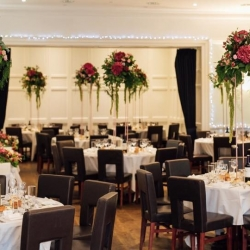 Tab centre pieces standing on rose gold  frames