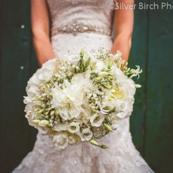 Large bride bouquet in whites