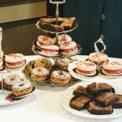 We provide tea, coffee and yummy cakes